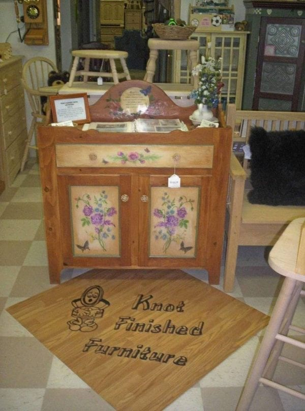 Hand Painted and Refinished Kitchen Cabinet