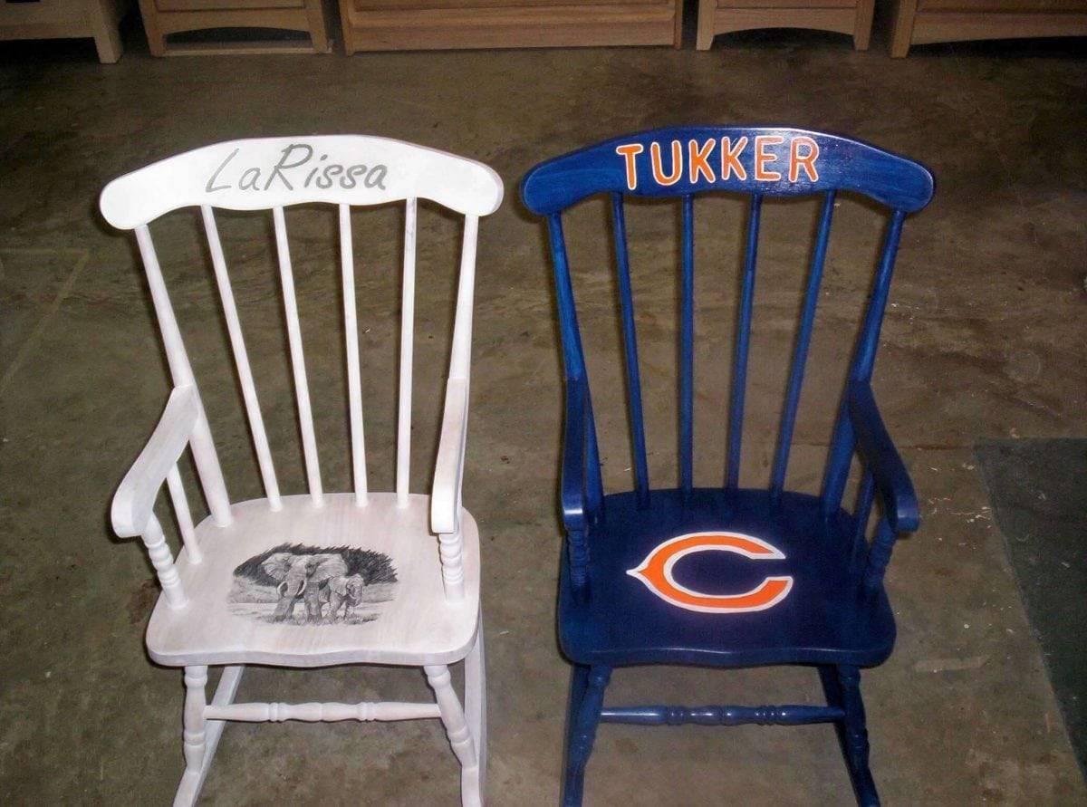 Kids Handpainted Rocking Chairs Bogus Jim Road Studio