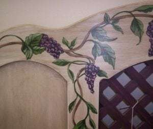 hand Painted Grape Painted Furniture