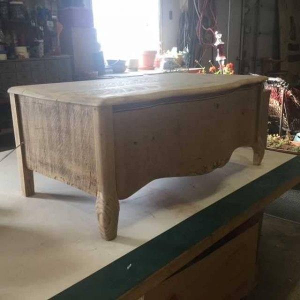 Damaged Wood Chest Drawer For Restoring