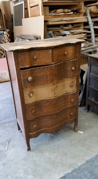 Old Wood Chest of Drawers