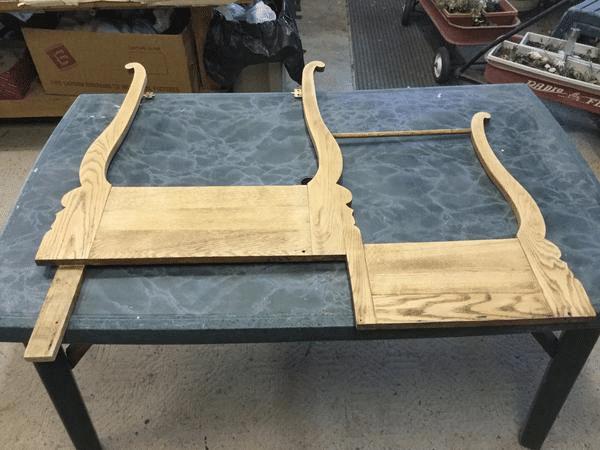 Wood Dresser Mirror Holder Sanded