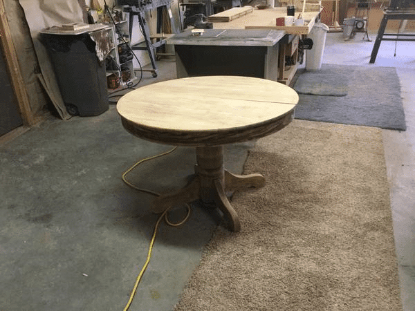 Sanded Round Wood Dining Table