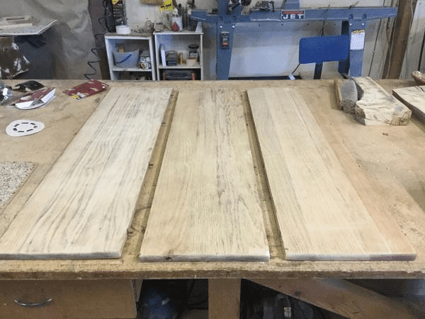 Sanded Wood Dining Table Leaves