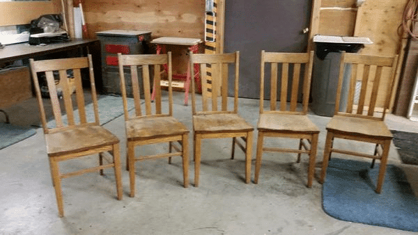 Wood Dining Table Chairs to Refinish
