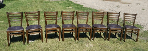Refinished Wood Dining Table Chairs