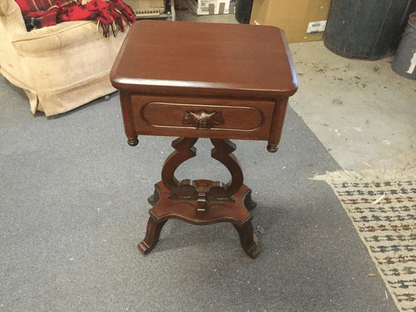 Refinished Wood End Table