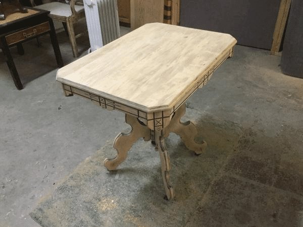 Sanded Wood Table to Refinish