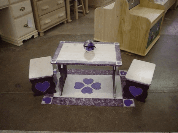 Custom Painted Kids Table and Chairs