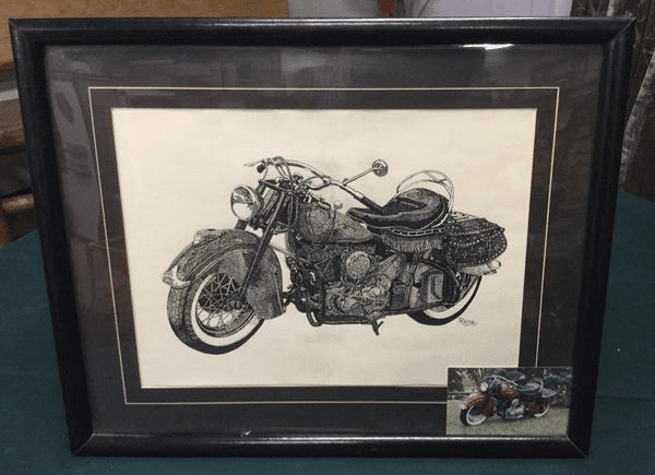 Hand Drawn Motorcycle Picture