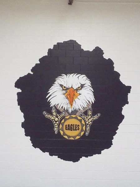 High School Eagle Mural