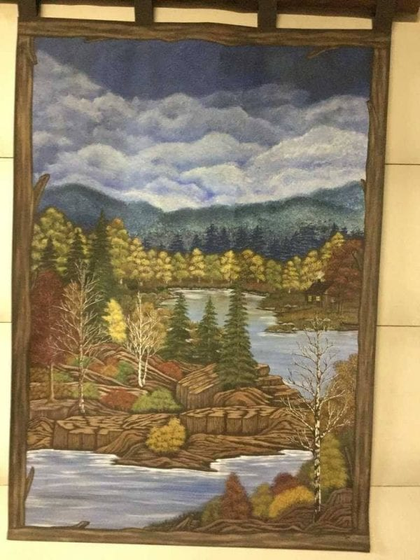 Hand Painted fall forest picture