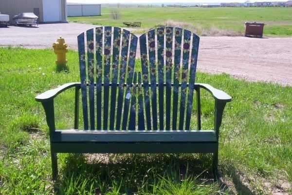 Daisy Painted Adirondack chairs