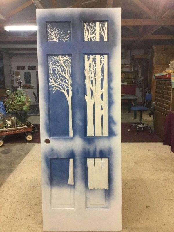 Custom Painted Wood Door