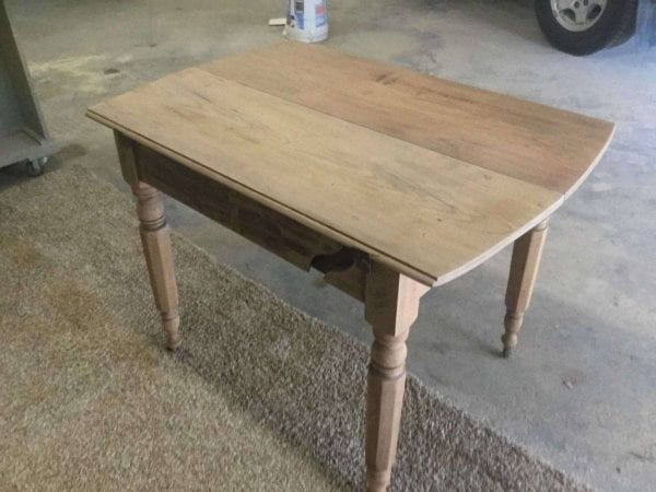 Sanded Table for Refinishing