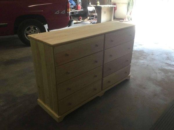 Sanded Wood Dresser