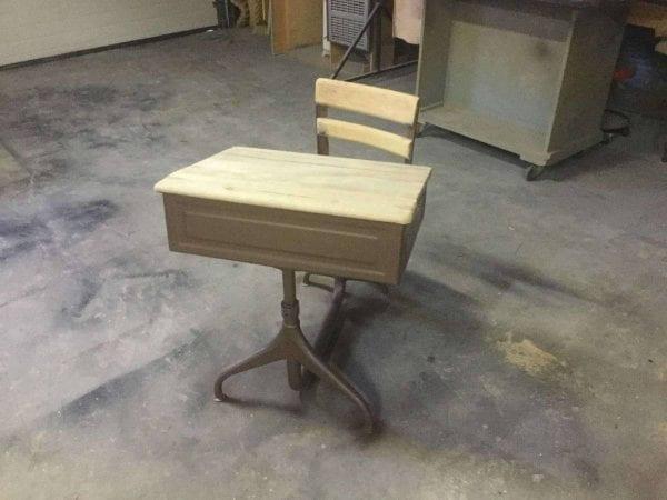 Sanded Wood School Desk