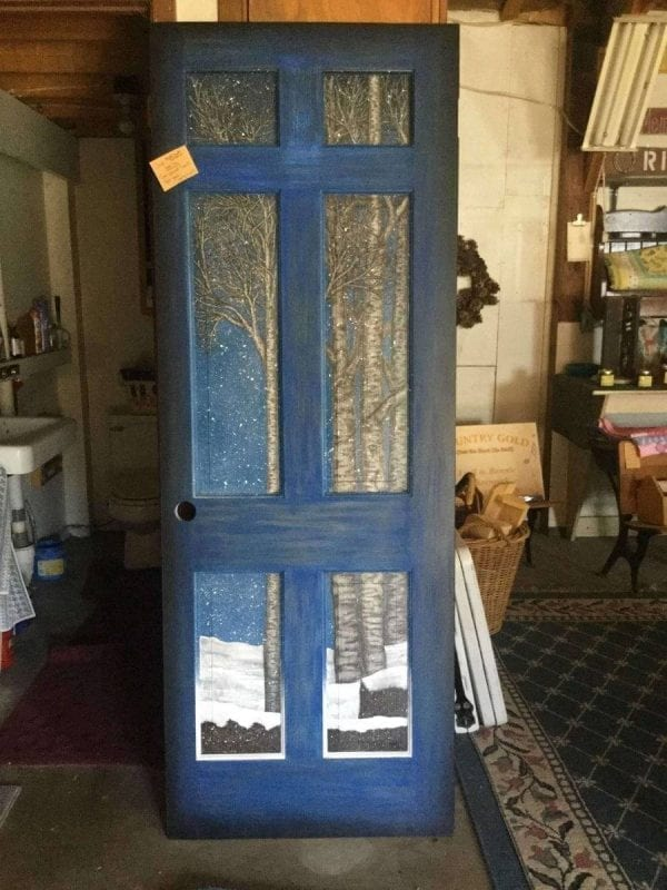 Custom Painted Wood Door
