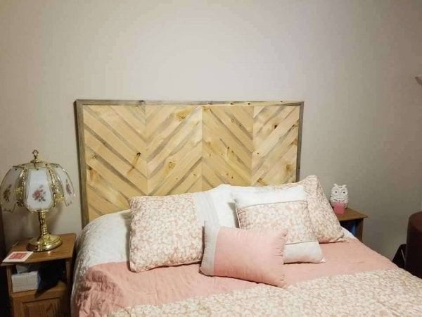 Wood Headboard Before Refinished