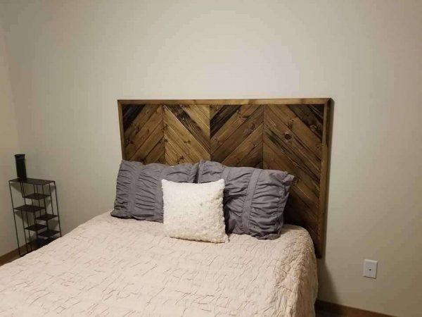 Custom Wood Headboard Refinished