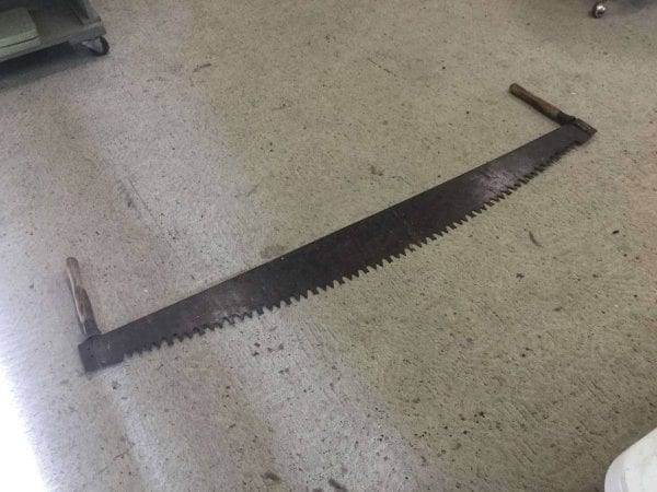 Antique Logging Saw