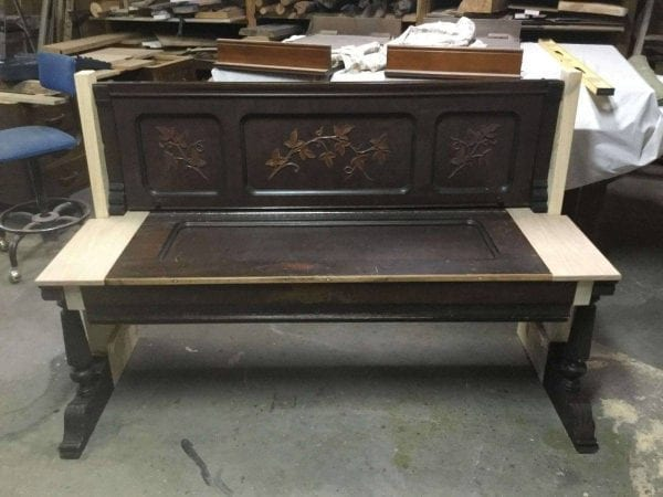 Sanded Wood Church Pew