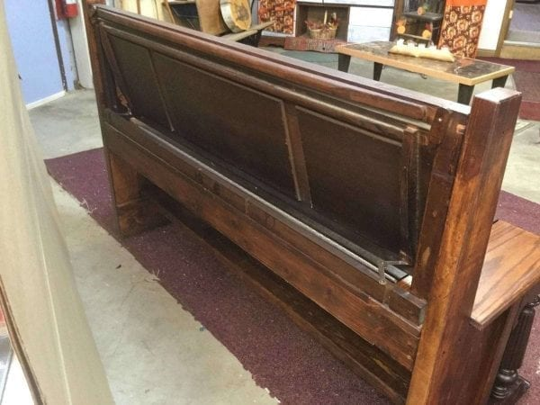 Refinished Wood Church Pew