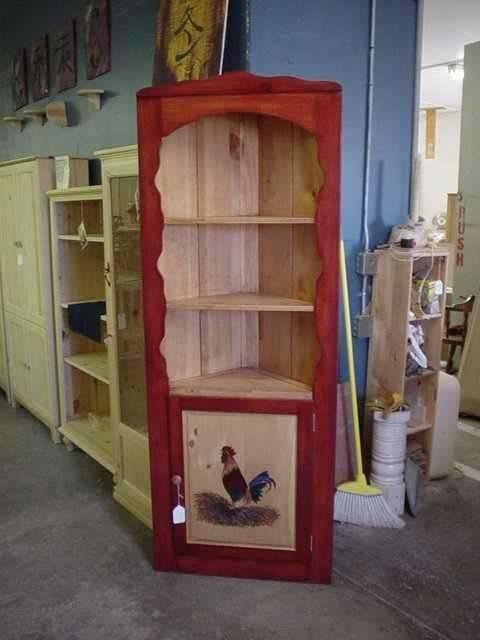 Custom Refinished Wood Kitchen Shelves