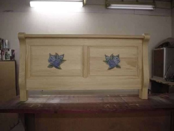 Custom Refinished Wood Headboard