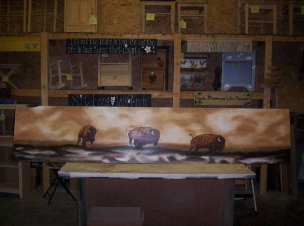 buffalo painting