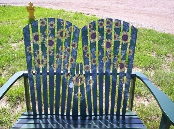 Daisy Painted yard chairs