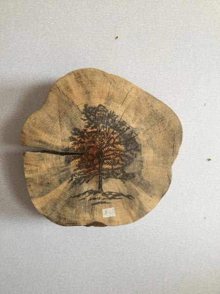 Custom Painted Tree on Log