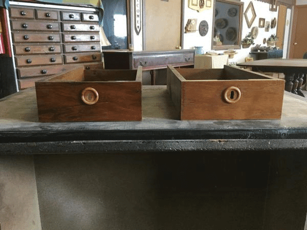 refinished Wood drawers