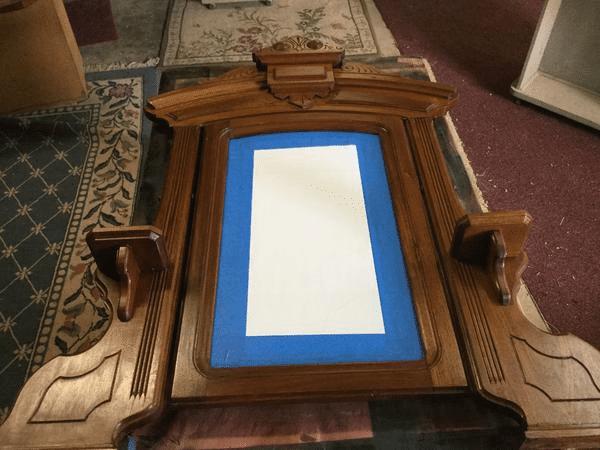 Refinishing Wood Dresser with mirror