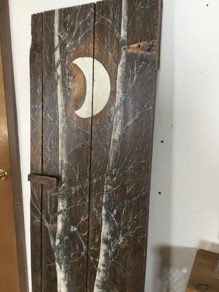 Custom Painted Tree on Antique Door