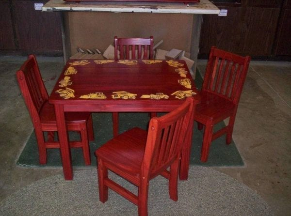 Custom Refinished Kids Table and Chairs