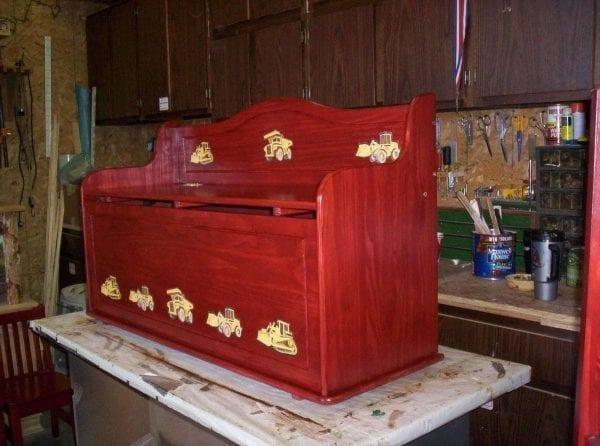 Custom Refinished Toy Box