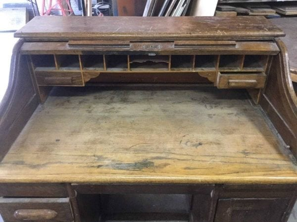 before roll top desk
