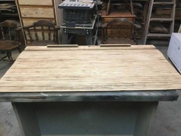 sanded roll top off desk