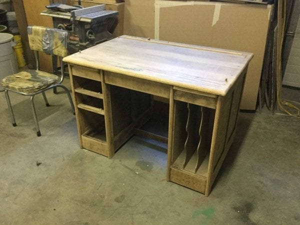 before of wood desk